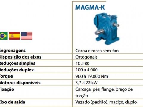 TIPOS DE - REDUTORES - MAGMA K-2